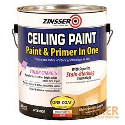 Краска для потолка самогрунтующаяся Zinsser Ceiling Paint