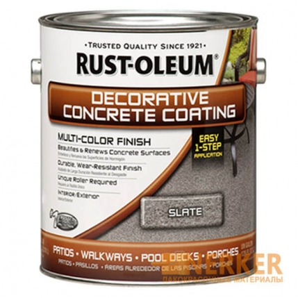 Краска для бетона с эффектом камня Decorative Concrete Coating