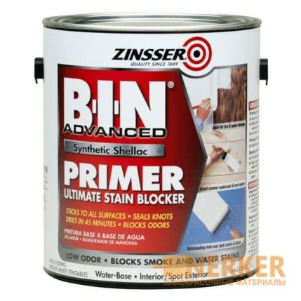 Грунт пятноустраняющий и блокирующий запахи Zinsser B-I-N Primer