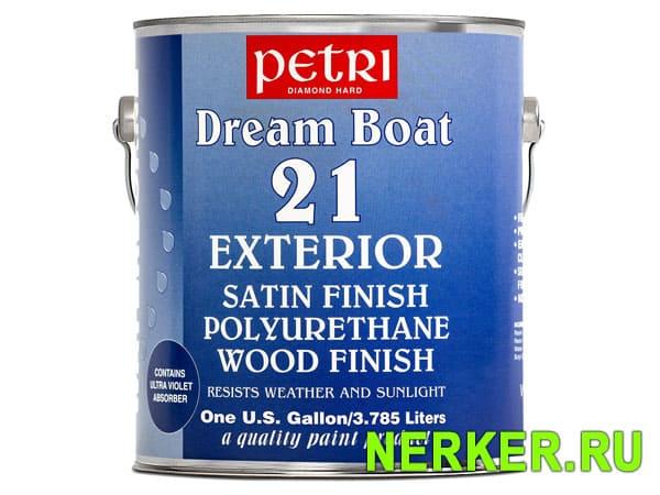 Полиуретановый шелковисто-полуматовый водный лак Petri Dream Boat 21 Exterior