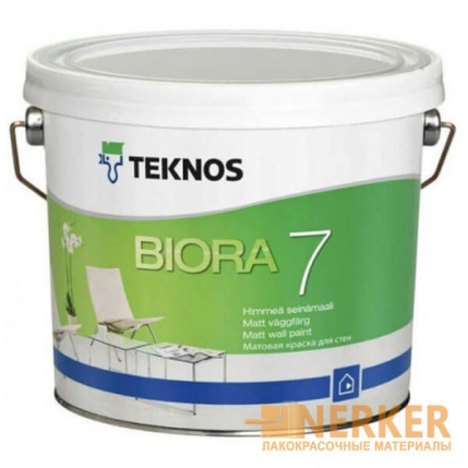Матовая краска для стен Teknos Biora 7 (Текнос Биора 7)
