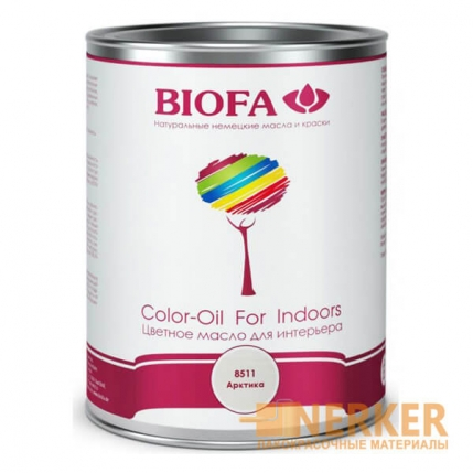 8511 Color-Oil For Indoors Белое укрывистое масло Арктика Biofa
