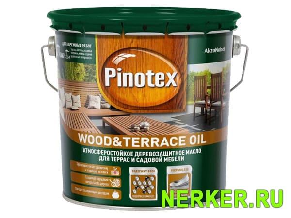 Pinotex Wood Terrace Oil деревозащитное масло для террас и садовой мебели