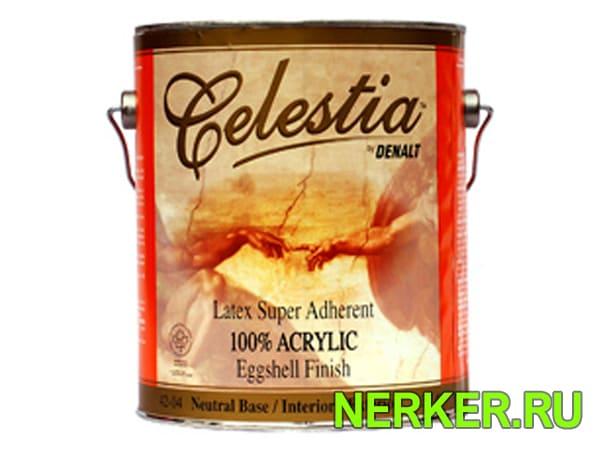 Акриловая гиппоаллергенная краска Denalt Celestia Egshell