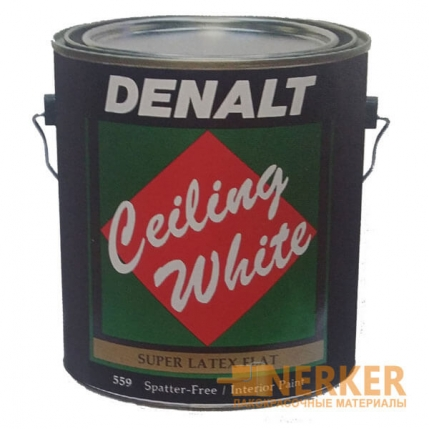 Матовая акриловая краска для потолков Denalt Ceiling White