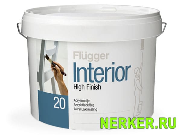 Flugger Interior High Finish 20 краска для дверей Флюгер