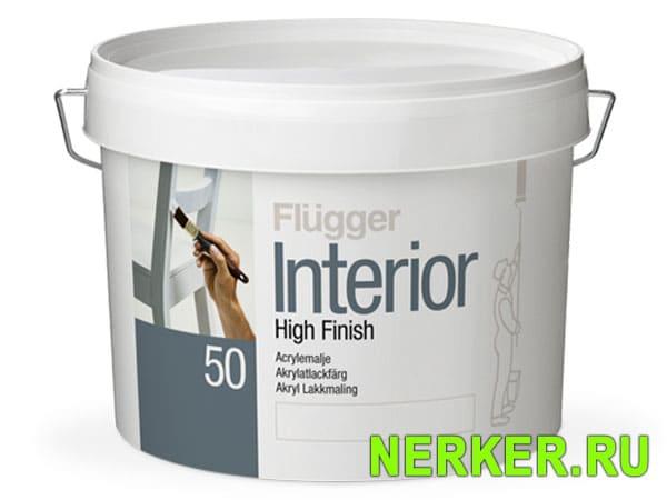 Flugger Interior High Finish 50 краска для зделия из дерева