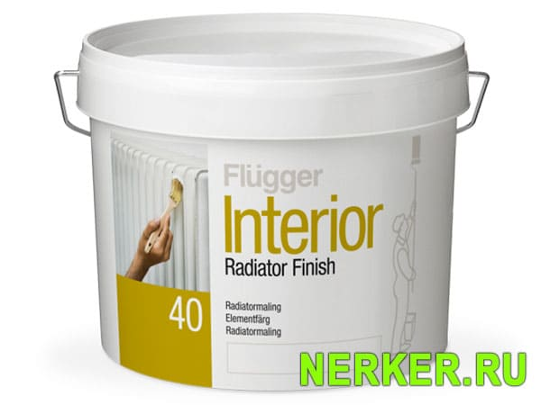 Flugger Interior Radiator Finish краска для радиаторов