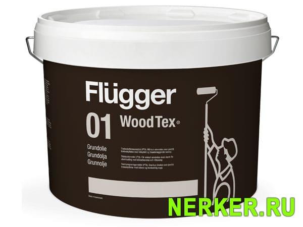 Flugger 01 Wood Tex Oil Primer грунтовочное масло по дереву