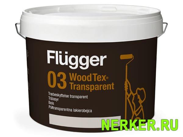 Flugger 03 Wood Tex Transparent Пропитка по дереву водная