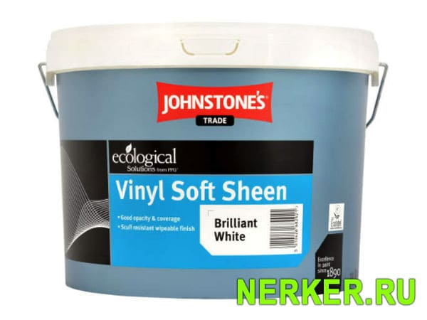 Johnstones Vinyl Soft Sheen Brilliant White интерьерная краска