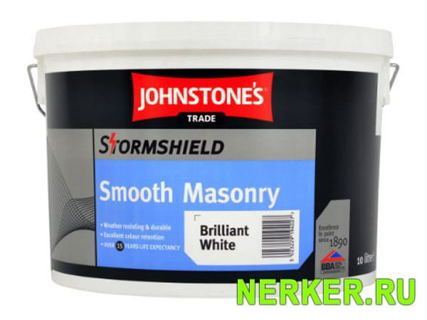 Johnstones Stormshield Smooth Masonry фасадная краска